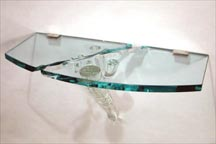 Wall Shelf - Blown & Plate Glass