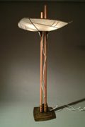 """Dragonfly"" Floor Lamp, 2003 - Steel, Rice Paper, Chichipata - 88""x30""x18"" $3400."